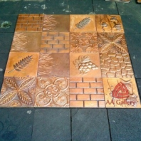 Kerajinan Copper Tile | Ubin Tembaga Kuningan
