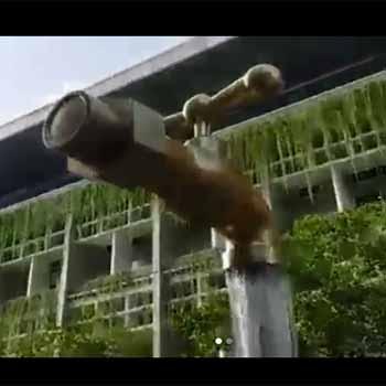 Karya Air Mancur  Berbahan Logam Kuningan Buat Melengkapi Teras Rumah dapat diorder dari wilayah Kota Payakumbuh